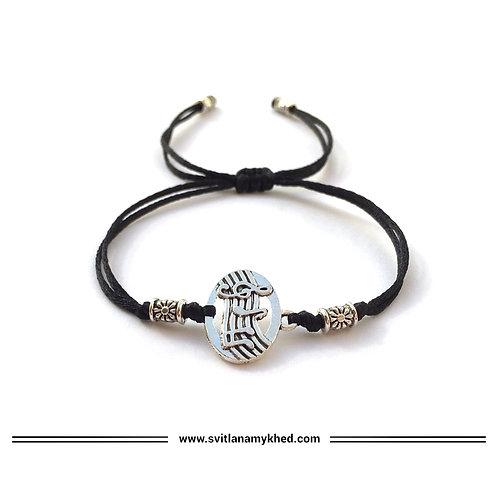 Bracelet CLÉ DE SOL. NOTE DE MUSIQUE. MUSIQUE 🎼 cordon en satin (couleur au choix)