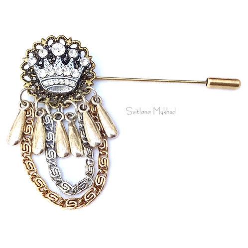 Où acheter Broche exclusive homme femme Couronne Roi Queen Reine Prince Princesse style luxe haute qualité