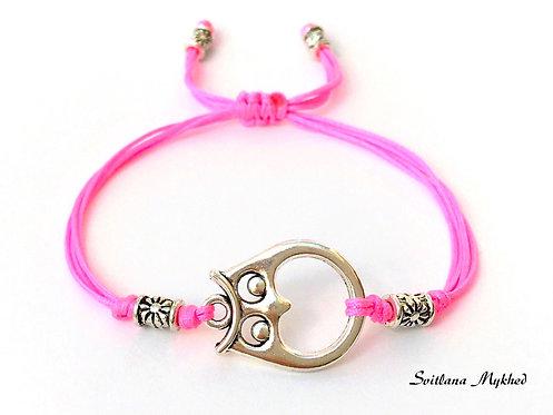 Bracelet personnalisable HIBOU. CHOUETTE. OISEAU Perles tibétaines bijoux fantaisie homme femme enfant
