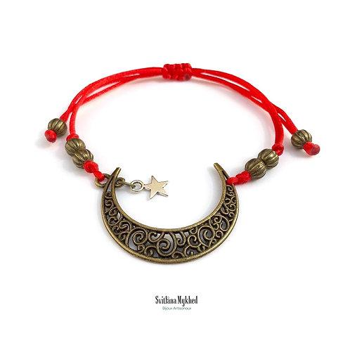 Bracelet homme femme musulman islamique symbole Lune Étoile islame