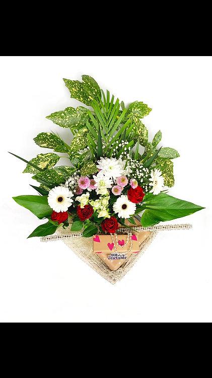 Acheter Panier Composition Florale Fleurs vivantes deco mariage anniversaire naissance haute qualité