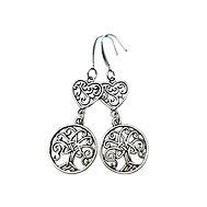Boucle d'oreille arbre coeur forme celtique