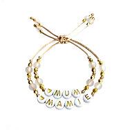 bracelet personnalisé couleur doré  avec prénom  message cadeau adulte et enfant