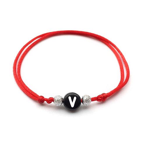 Bracelet à personnaliser avec Initiale  V VICTORIA aux choix