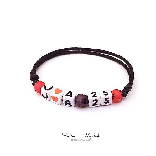 Bracelet personnalisé avec Initiale Numéro Chiffre Code