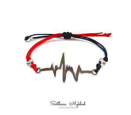 Bracelet personnalisé santé Pulse Battement De Coeur Cardiogramme Docteur. Médecin cadeau à infirmières, médecins ou étudiant