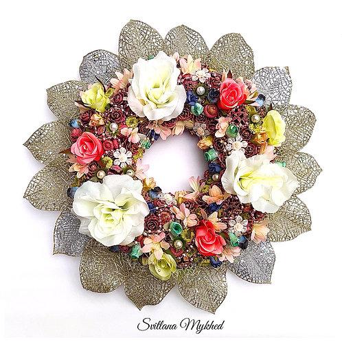 Couronnes florale Milieu de table Mariage fête anniversaire Style Shabby Décoration haute gamme
