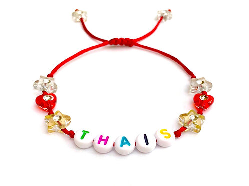 Bracelet THAI à personnaliser avec prénom nom texte message logo