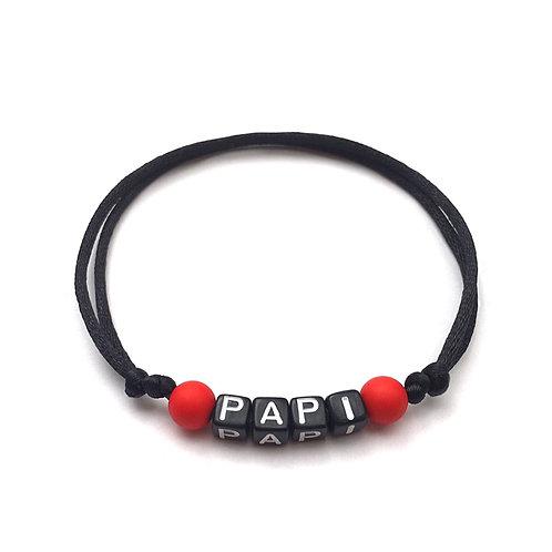 Bracelet PAPI personnalisé avec prénom nom texte message