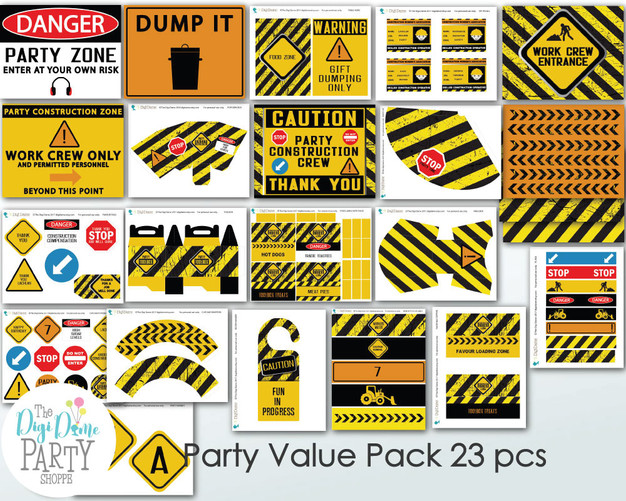 Construction Party Printables Pack by The Digi Dame