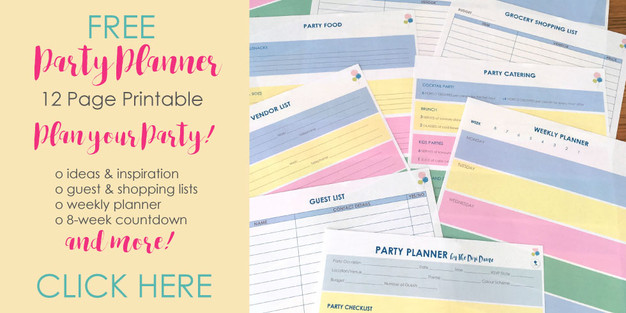 FREE Party Planner Printable by The Digi Dame