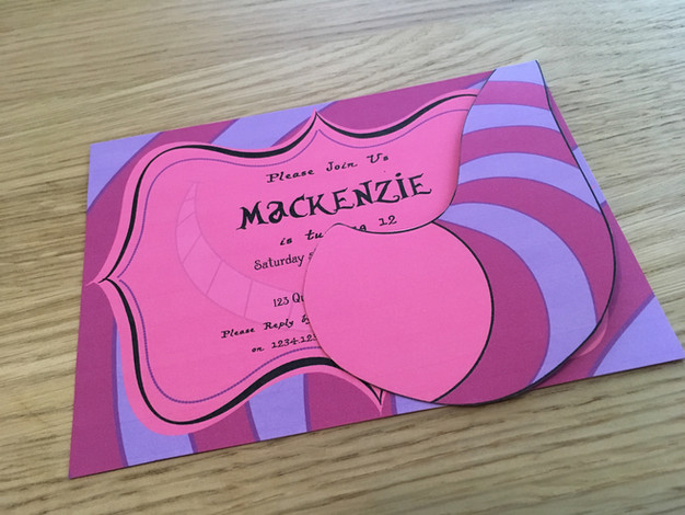 cheshire cat party invitation