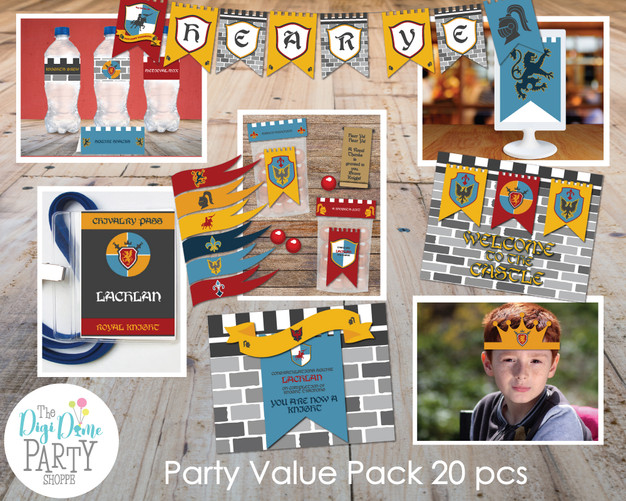 Medieval Knight Party Printables
