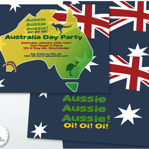 Party Printables Online Shop – Australia Day Party Invitations
