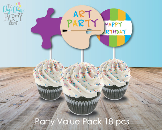 art Party Printables by The Digi Dame