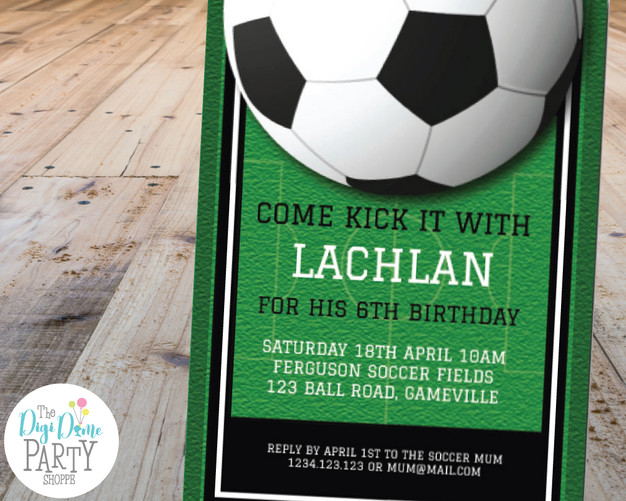 Soccer Party Invitation Printable by The Digi Dame