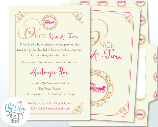 Once Upon A Time Printable Party Invitation by The Digi Dame