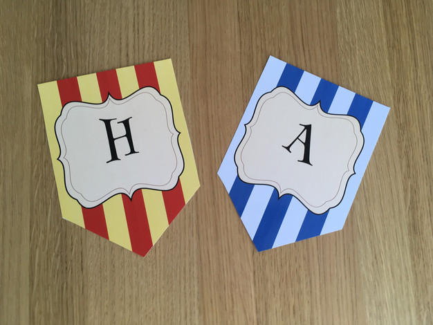 How to Edit Print and Assemble Printable Party Banners