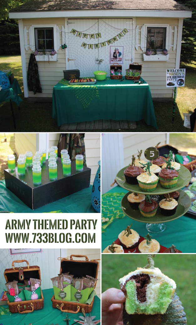 Army Party Ideas and a FREE Army Party Printable
