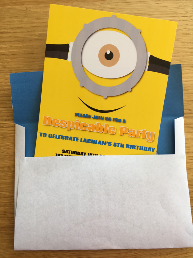 minion invitation by The Digi Dame Party Shoppe