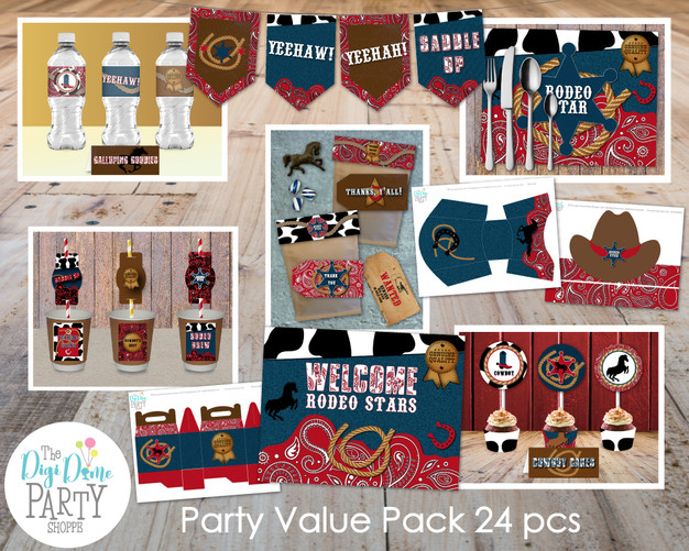 Western Rodeo Cowboy Party Printables by The Digi Dame