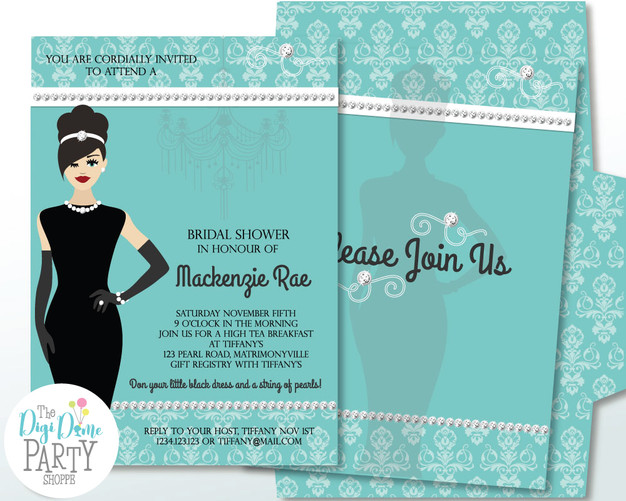 Editable Bridal Shower Invitation by The Digi Dame