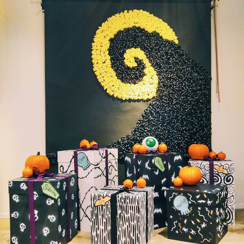 Nightmare Before Christmas 2016 - Background & Boxes DIY