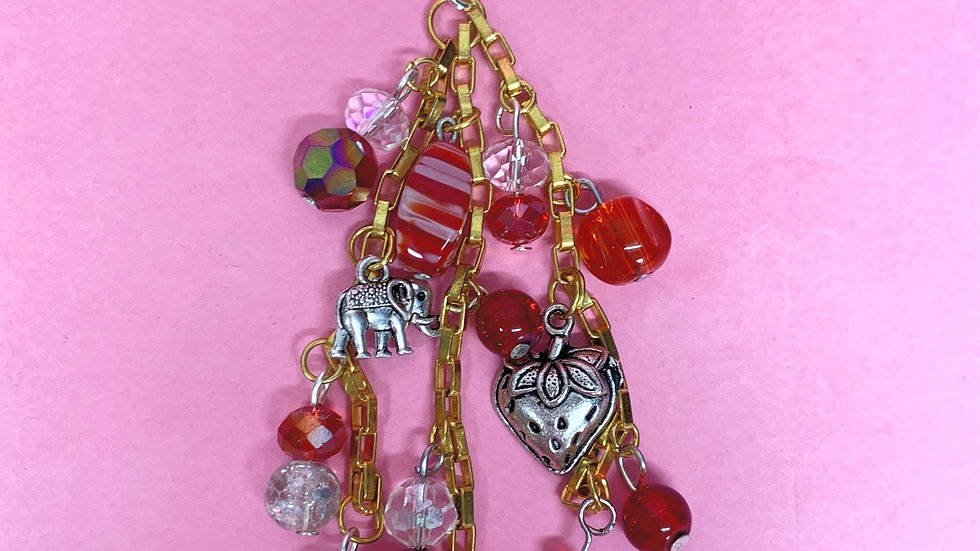 Red bag charm