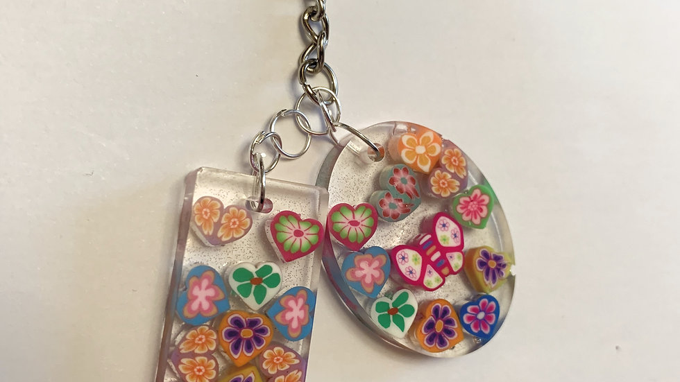 Kids heart keyring