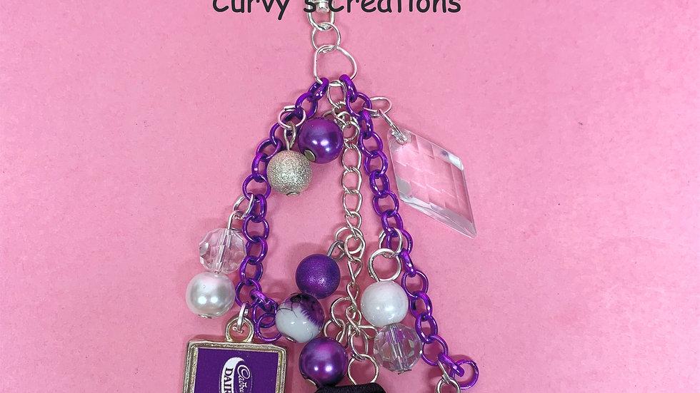 Purple bag charm