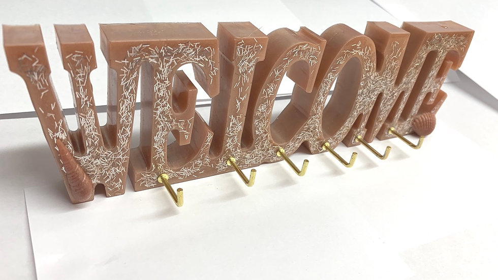 Resin art WELCOME sign