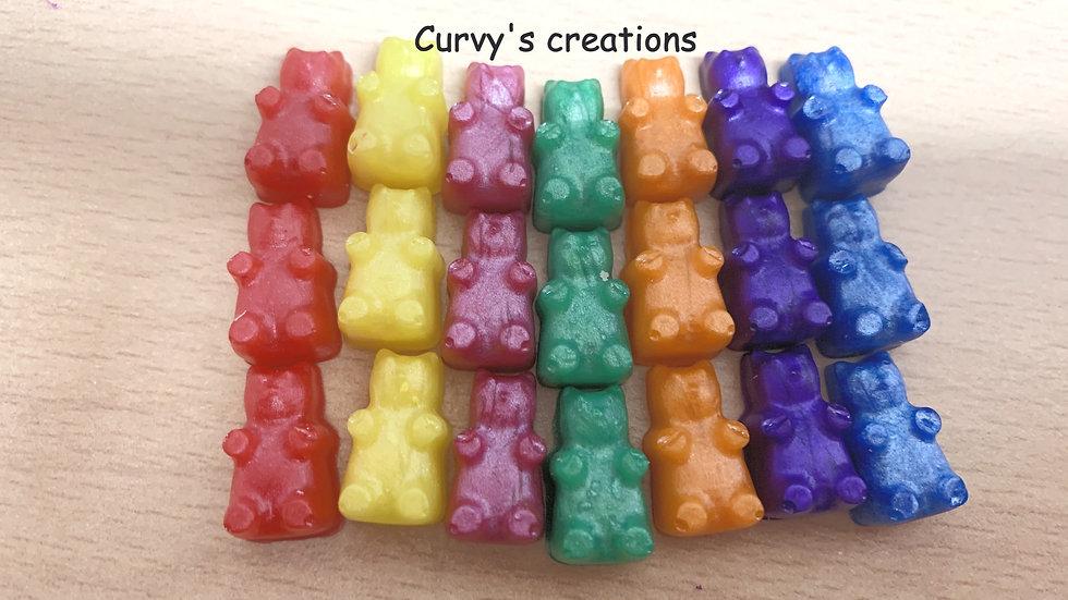 Rainbow Gummy Bear charms