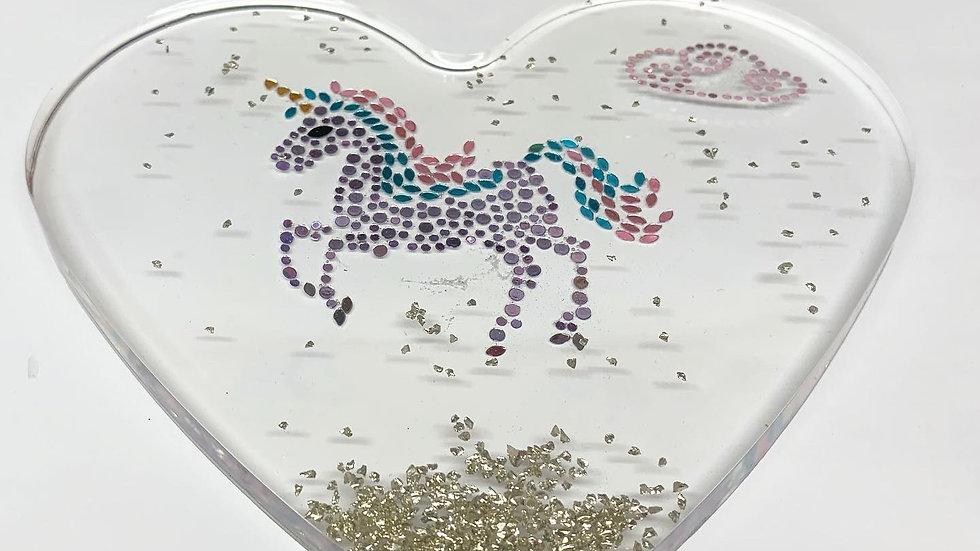Resin art unicorn wall art