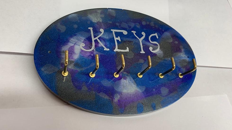 Resin art Galaxy key hook