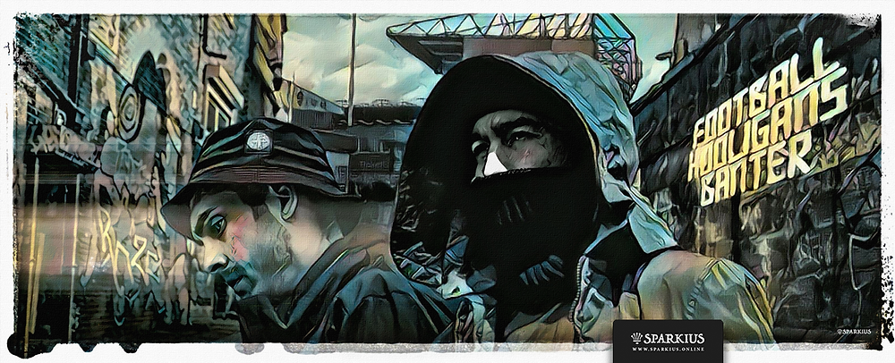 Football Casuals Art by SPARKIUS | Commissioned by Football Hooligans Banter in aid of the Make a Wish Foundation.