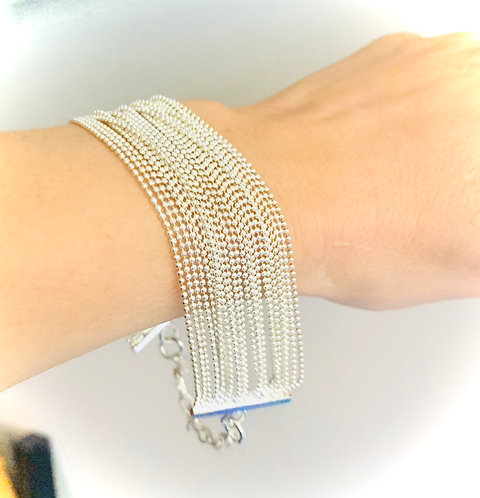 Silver Bracelet with clasp