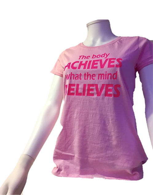 HMB T-Shirt / The body ACHIEVES what the mind BELIEVES (S)
