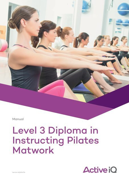 L3 Pilates Mat Diploma Manual & LAP