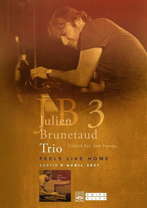 Julien Brunetaud trio - visuel fly affic