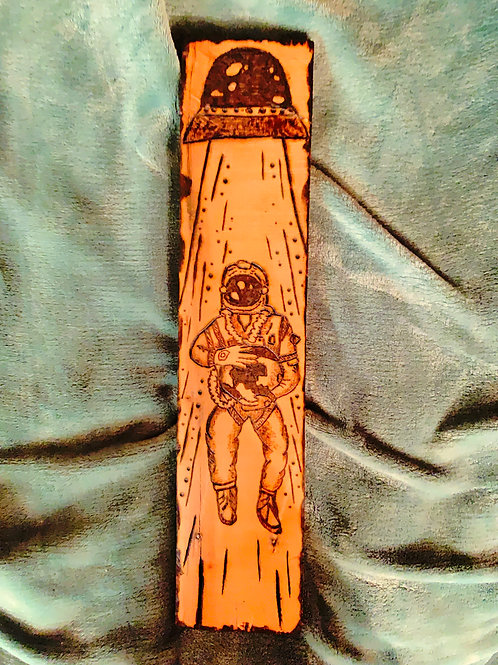 """'Space Cadet"""" Pyrography Piece"""