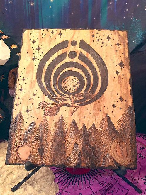 """Woman Untamed"" Wood Burning"