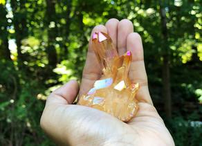 The Warm Love Of Tangerine Aura Quartz