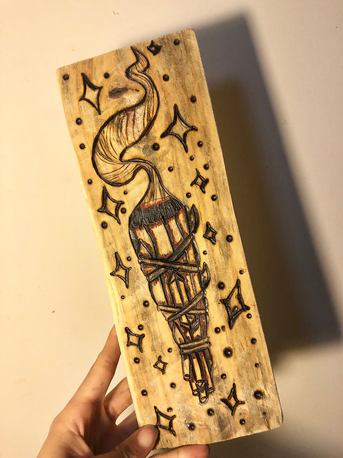 """""""Cleansed"""" Wood-burned Sign"""