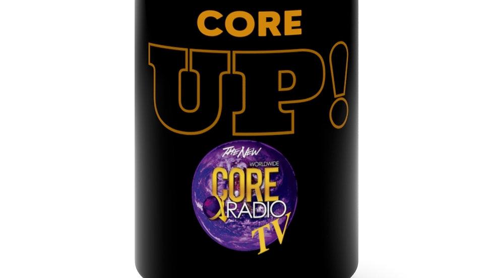 """Core Up!"" TV Black Mug 15oz"