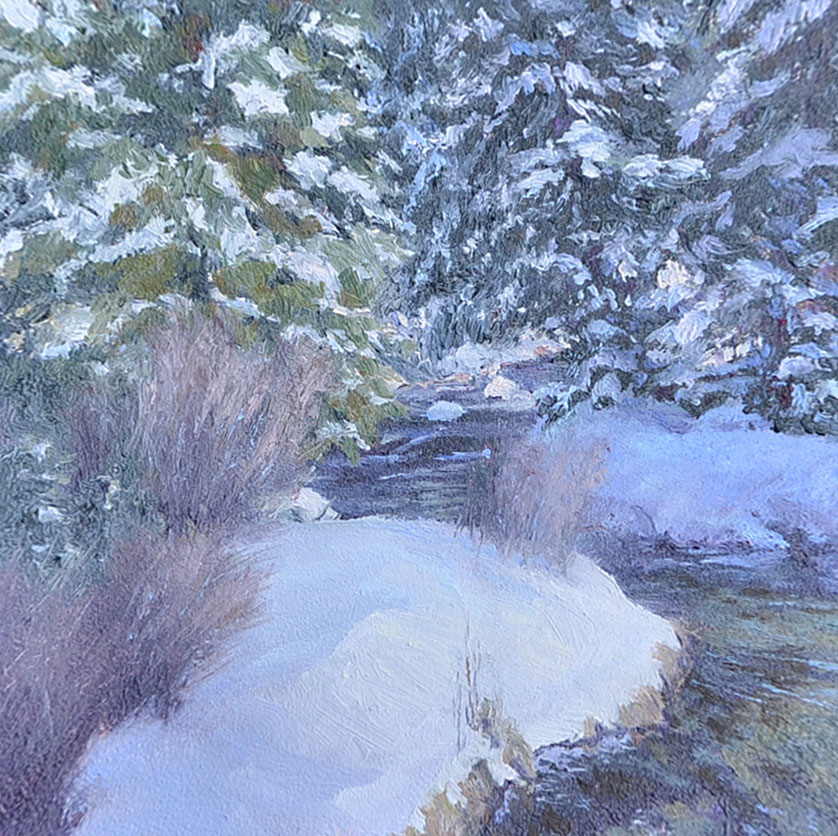 """Winter Treasurer""   4x4 oil"