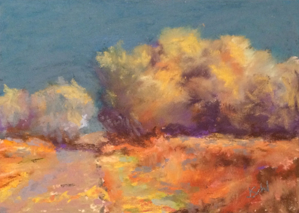 """Old Kinsey Road""  2x3 pastel"