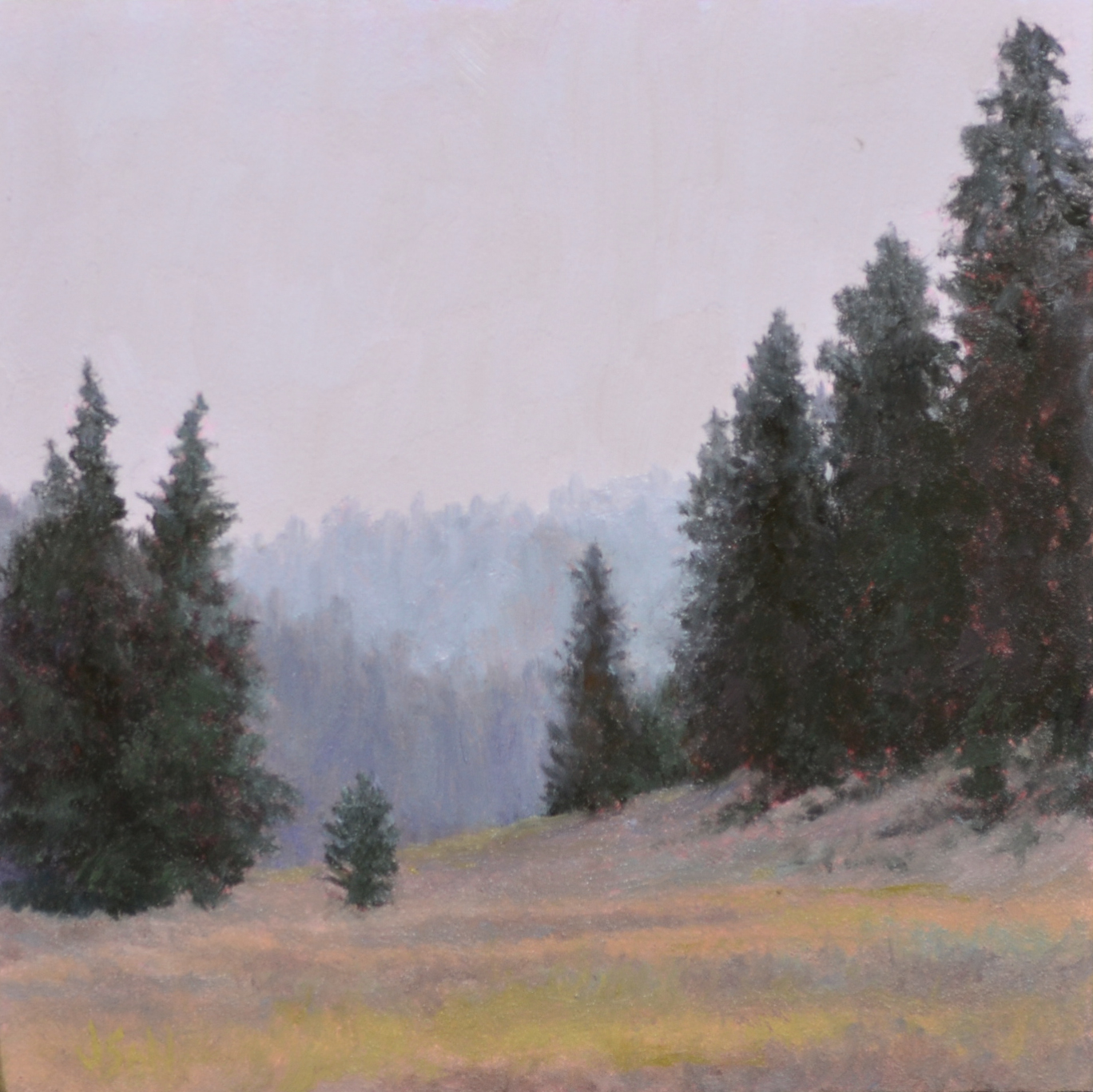 """Season's Quiet Change""  4x4 oil"