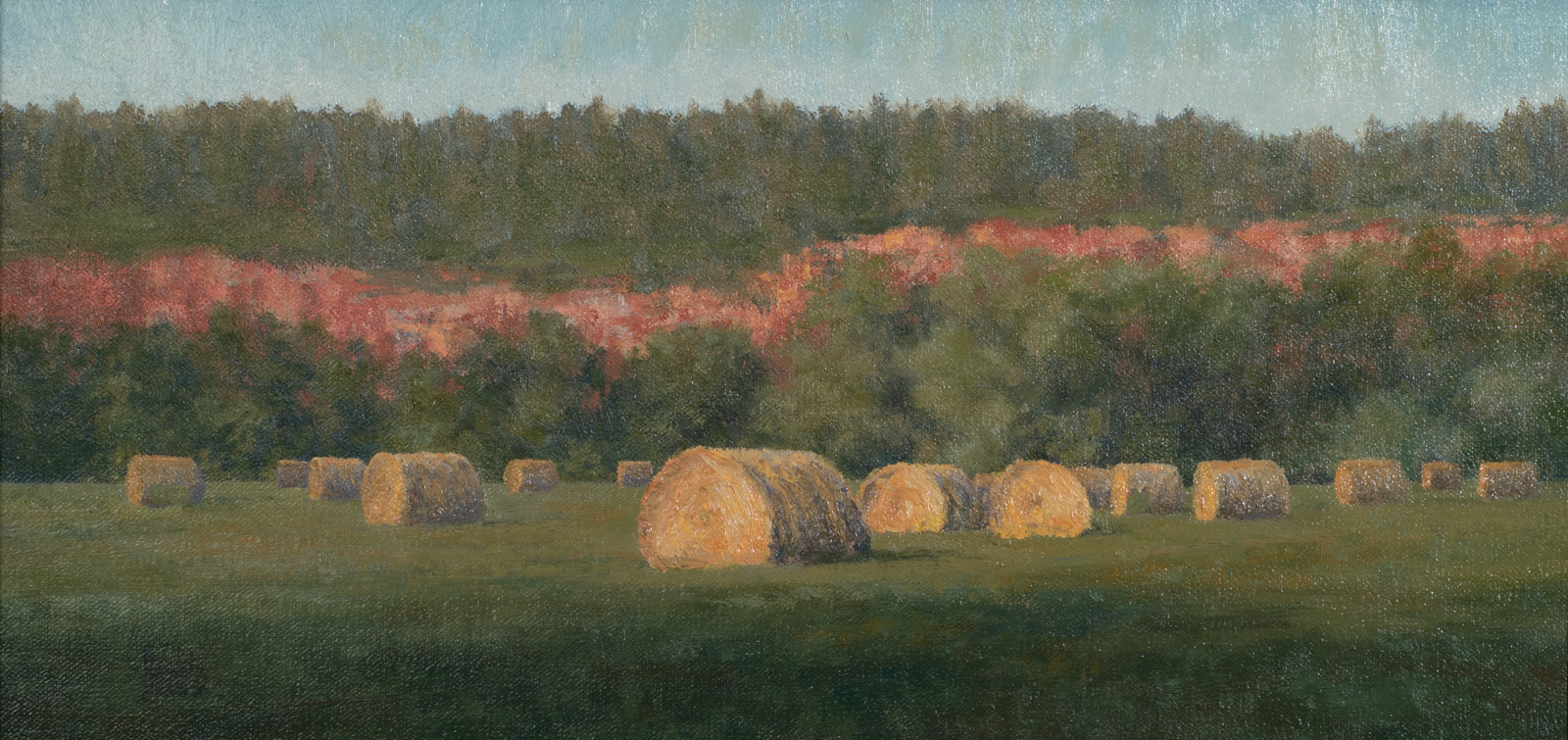 """Battle Creek Hay Meadow""   8x16 oil"