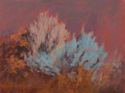 """Sagebrush Study""  6x8 oil"