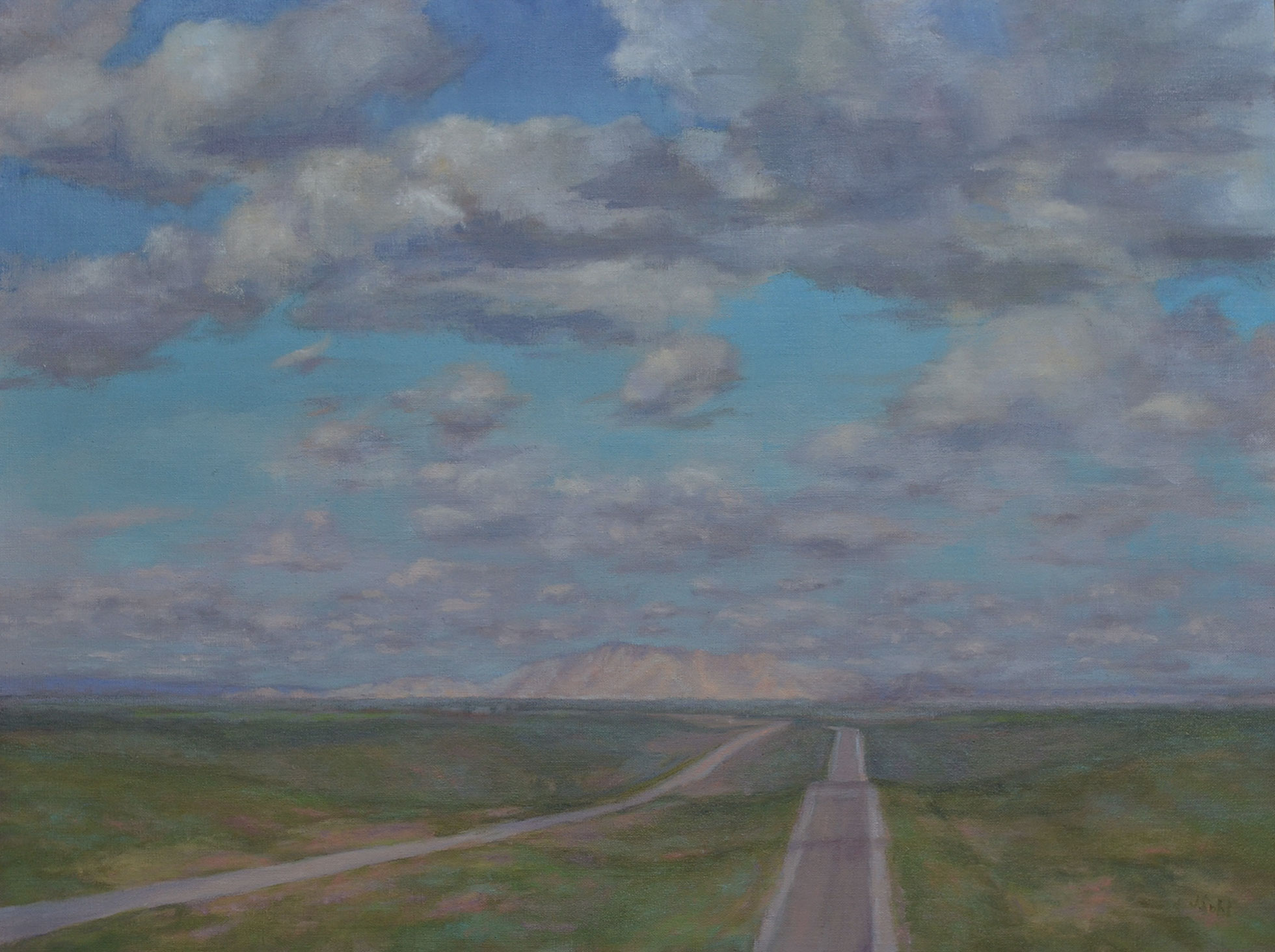 """Flying Down I-90""   24x18 oil"